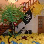 оформление шарами хэллоуин
