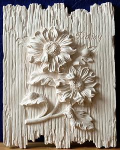 цветы на дощечках ромашки