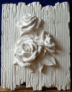 цветы на дощечках розы