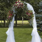 цветочная свадебная арка