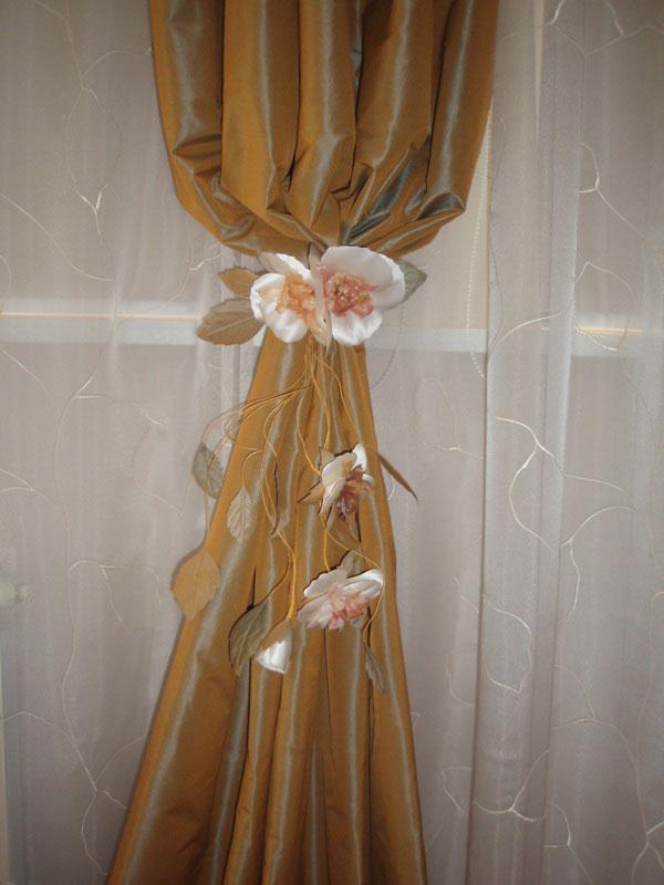 Цветок на шторы своими руками фото