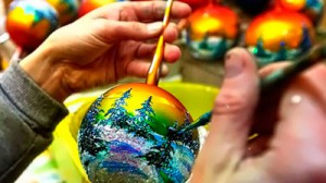 мастер класс роспись елочных шаров