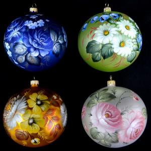 роспись елочных шаров