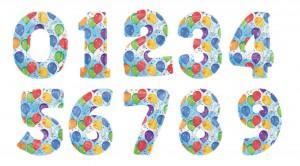 Буквы и цифры из шаров 2