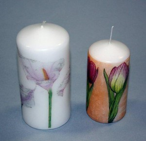Декупаж свечей 1