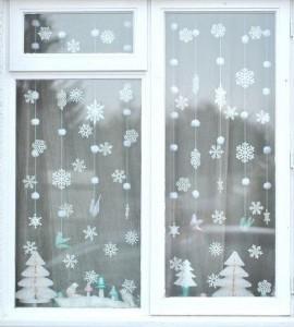 8 (985) 920 - 36- 97. Новогодний декор окна
