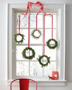 Новогодний декор окна 5