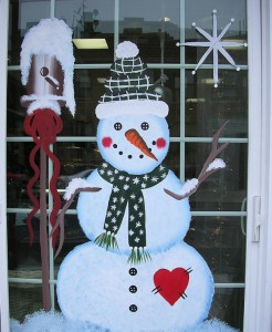 Новогодний декор окна 6