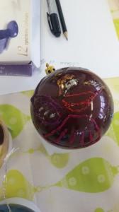 Мастер-класс Роспись елочной игрушки 3