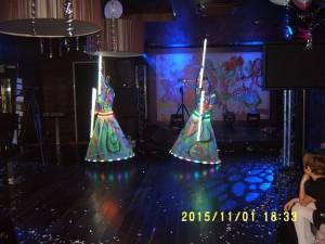 Неоновое шоу на праздник